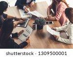 businesswoman in group meeting...   Shutterstock . vector #1309500001