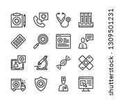 medical icons set. medicine ... | Shutterstock .eps vector #1309501231