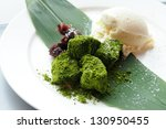 green tea dumpling   Shutterstock . vector #130950455