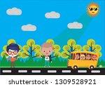 ilustration student friends | Shutterstock . vector #1309528921