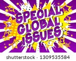 special global issues   vector... | Shutterstock .eps vector #1309535584