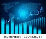stock market and exchange of... | Shutterstock .eps vector #1309536754