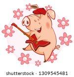 vector illustration of a cute... | Shutterstock .eps vector #1309545481