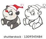 vector illustration of a cute... | Shutterstock .eps vector #1309545484