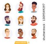 cheerful people avatar... | Shutterstock .eps vector #1309549297