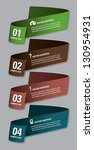 modern options banner. vector... | Shutterstock .eps vector #130954931