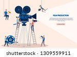 making movie  video production...   Shutterstock .eps vector #1309559911