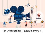 making movie  video production...   Shutterstock .eps vector #1309559914