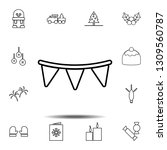 garland icon. simple thin line  ...