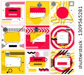 set of trendy abstract... | Shutterstock .eps vector #1309565281