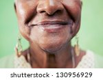 old black woman portrait  close ... | Shutterstock . vector #130956929