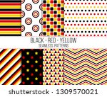 Black Red Yellow Geometric...