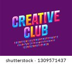 vector colorful sign creative... | Shutterstock .eps vector #1309571437