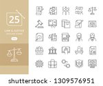 law and justice icons. law and...   Shutterstock .eps vector #1309576951