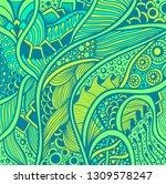 abstract zen tangle zen doodle... | Shutterstock .eps vector #1309578247