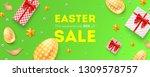 easter sale  50 percent off.... | Shutterstock .eps vector #1309578757
