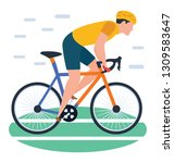 isometric design of cycling icon | Shutterstock .eps vector #1309583647