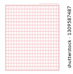 squared manuscript icon paper... | Shutterstock .eps vector #1309587487