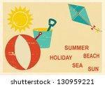 Vintage Postcard With Summer...
