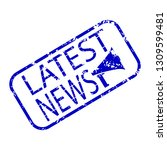 latest news blue stamp isolated ... | Shutterstock .eps vector #1309599481