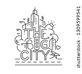 big city elements in line style.... | Shutterstock .eps vector #1309599541