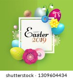 happy easter design template... | Shutterstock .eps vector #1309604434