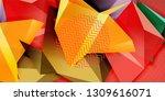 low poly design 3d triangular...   Shutterstock .eps vector #1309616071