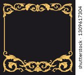 gold ornament baroque style.... | Shutterstock .eps vector #1309617304