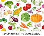 vegetables seamless pattern on...