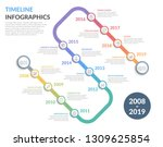 timeline with icons  12... | Shutterstock .eps vector #1309625854