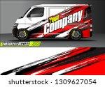 van wrap design. simple lines... | Shutterstock .eps vector #1309627054