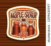 vector logo for maple syrup ... | Shutterstock .eps vector #1309630597