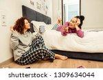 girlfriends in morning.... | Shutterstock . vector #1309634044