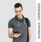 portrait of young cheerful men... | Shutterstock . vector #1309636324