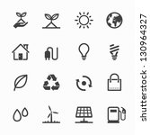 Ecology Icons With White...