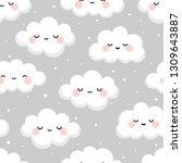 Cloud Cute Smiling Face...