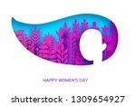 happy womens day greetings card.... | Shutterstock .eps vector #1309654927