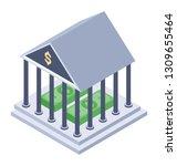 financial institute isometric... | Shutterstock .eps vector #1309655464