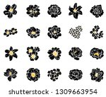 flowers set. collection of... | Shutterstock . vector #1309663954