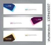 vector abstract web banner... | Shutterstock .eps vector #1309665037