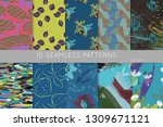 collection of seamless patterns.... | Shutterstock .eps vector #1309671121