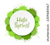 banner with green blobs white... | Shutterstock .eps vector #1309685467
