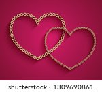 vector gold chain jewelry  two... | Shutterstock .eps vector #1309690861