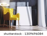 frame with interior background... | Shutterstock . vector #1309696084