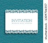 vector frame with lace border... | Shutterstock .eps vector #1309706557