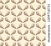 deer horns pattern | Shutterstock .eps vector #1309718731