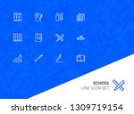 school line icon set. test ... | Shutterstock .eps vector #1309719154