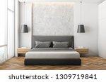 front view of modern bedroom... | Shutterstock . vector #1309719841