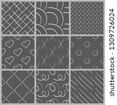 a set of abstract patterns.hand ...   Shutterstock .eps vector #1309726024