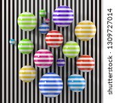 modern art concept with stripe... | Shutterstock . vector #1309727014